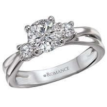 Load image into Gallery viewer, 3-Stone Semi-Mount Diamond Ring