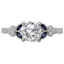 Load image into Gallery viewer, Sapphire and Diamond Semi-Mount Ring