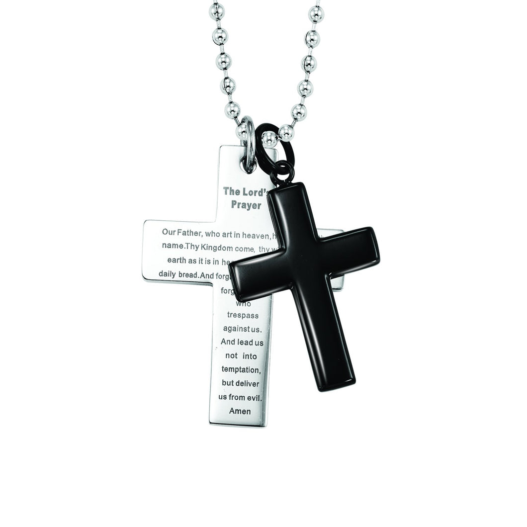Steel Cross Fashion Pendant, Danwerke Jewelers, AMS1075-ST