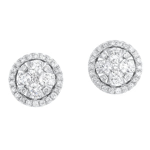 14KTW Uno Oval Basics Earrings 1 Ctw, Danwerke Jewelers, ER10253-4WC