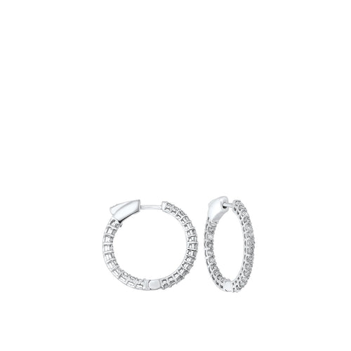 14K Round In-Out Earring 2ctw, Danwerke Jewelers, ER10313-4WF