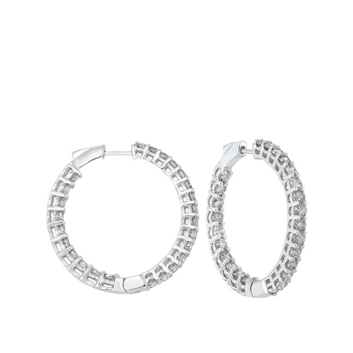 14K Round In-Out Earring 5ctw, Danwerke Jewelers, ER10315-4WF