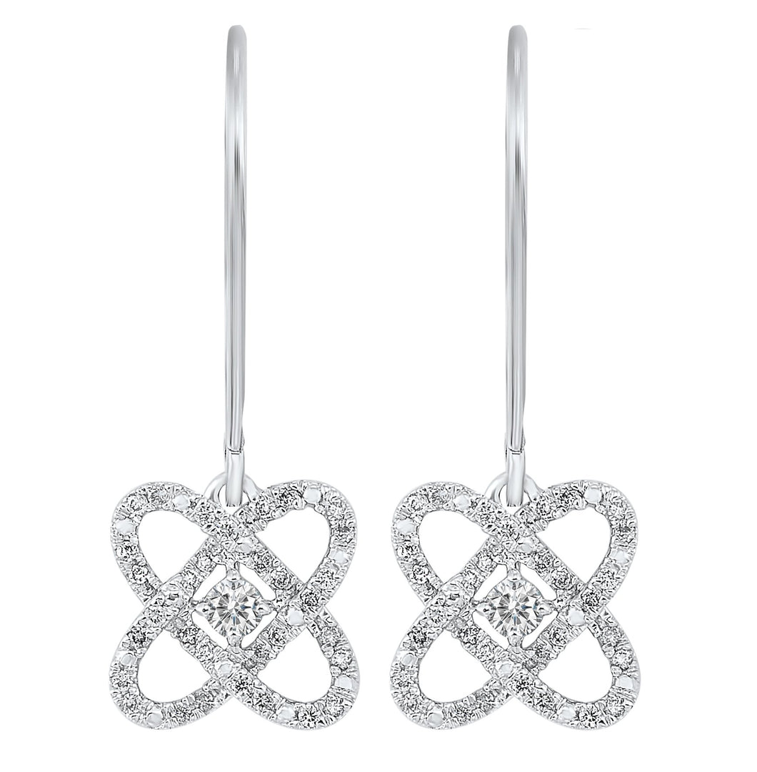 Silver Diamond Earrings 1/4 ctw, Danwerke Jewelers, ER10446-SSF