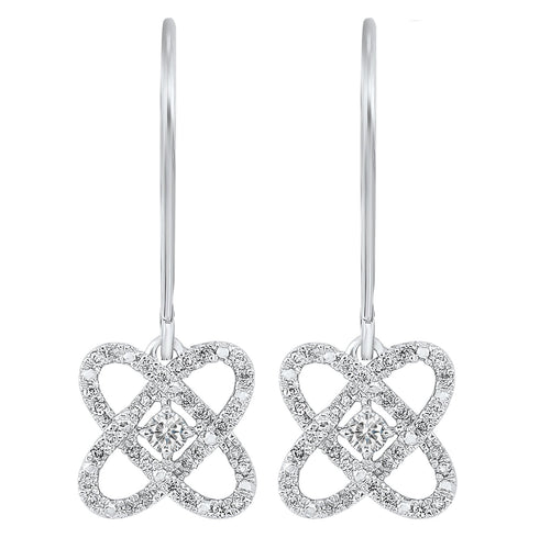 14KTW Diamond Earrings - 1/2ctw, Danwerke Jewelers, ER10447-4WF