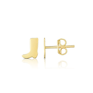 Polished Post Boot Earring with Push Back Clasp