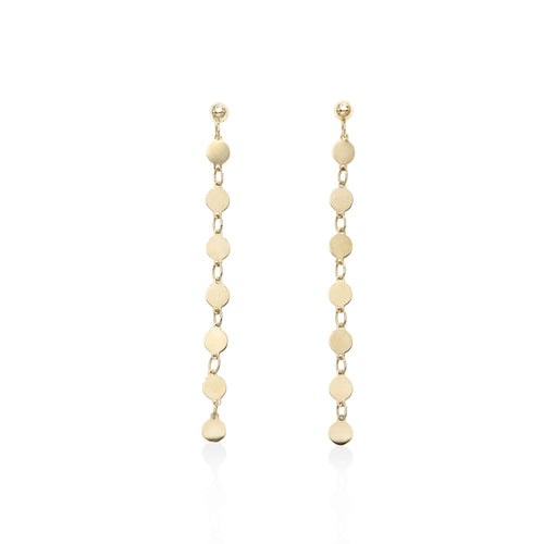 Polished Single Strand Drop Pebble Earring with Push Back Clasp