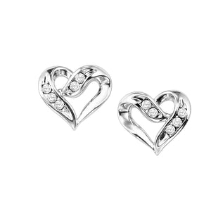 SS Heart Earrings 1/50 Ctw, Danwerke Jewelers, FE1133-SSD