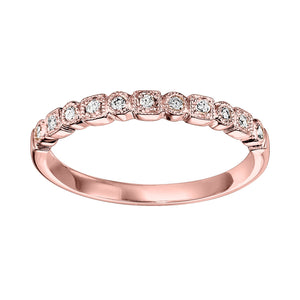 10K Rose Gold Mixable Ring, Danwerke Jewelers, FR1045-1PD