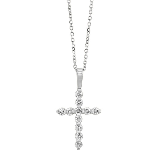 14KTW Diamond Cross Fashion Pendant 1/10Ct, Danwerke Jewelers, HDCR005-4WD