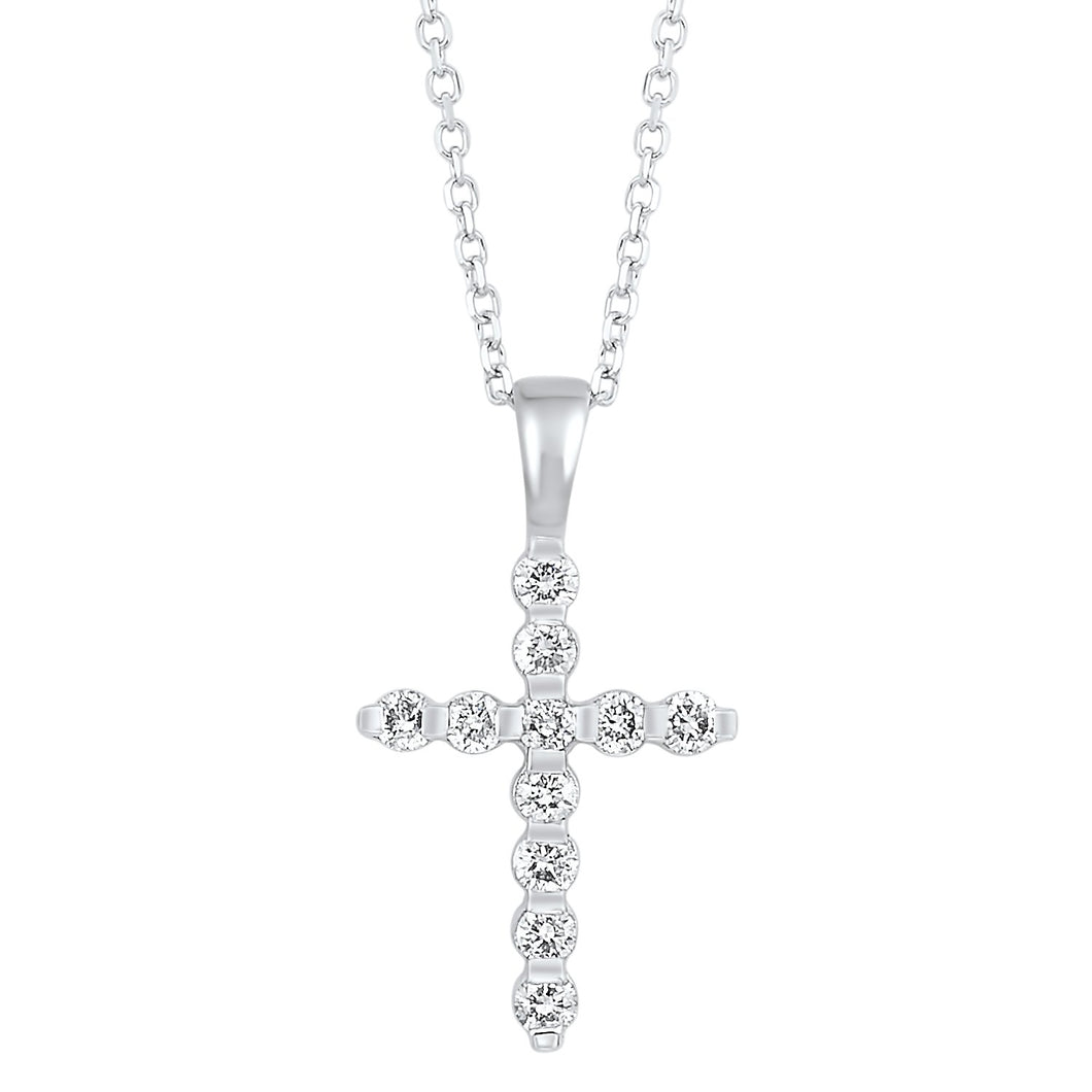 14KTW Diamond Cross Fashion Pendant 1/5Ct, Danwerke Jewelers, HDCR006-4WD