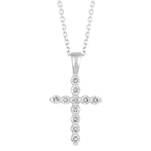 14KTW Diamond Cross Fashion Pendant 1/4Ct, Danwerke Jewelers, HDCR006A-4WD