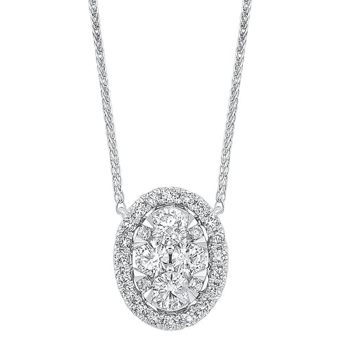 14K Diamond Pendant 1/2 ctw, Danwerke Jewelers, NK10079-4WC