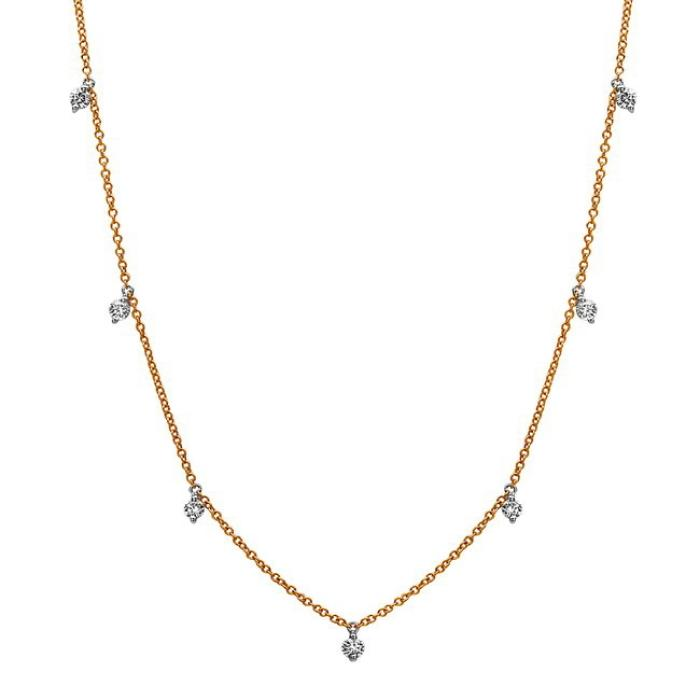14K Yellow & White Gold Necklace