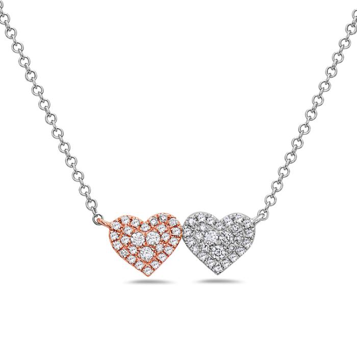 14K Rose & White Gold Necklace