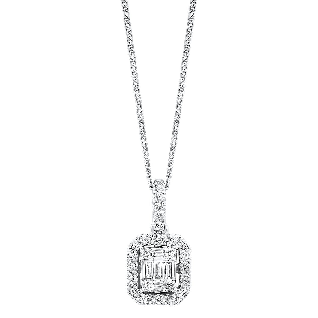 14K Diamond Pendant 1/10ctw, Danwerke Jewelers, PD10214-4WC