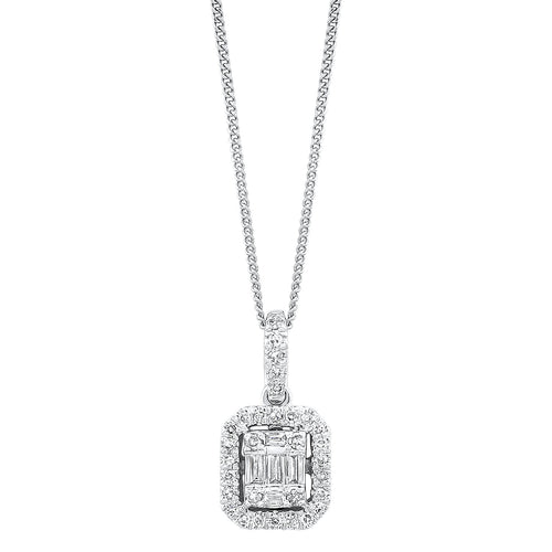 14K Diamond Pendant 1/2ctw, Danwerke Jewelers, PD10218-4WC