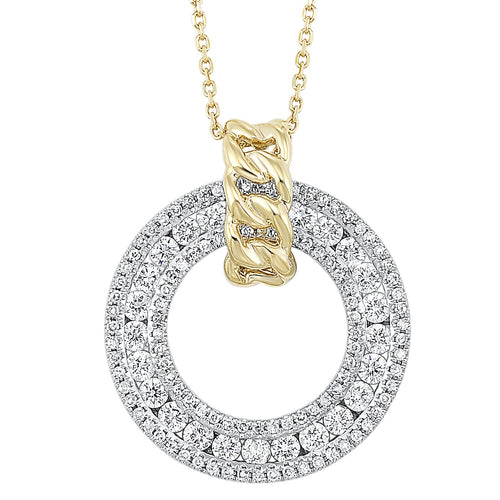 14K Diamond Pendant 3/4 ctw, Danwerke Jewelers, PD10357-4WYC