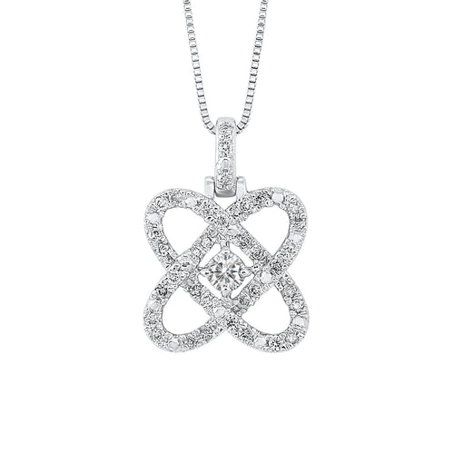 14k Diamond Pendant 1/4ctw, Danwerke Jewelers, PD10454-4WF