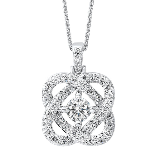 14k Diamond Pendant 1ctw, Danwerke Jewelers, PD10457-4WF