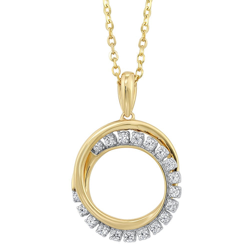 Gold Diamond Pendant 1/10ctw, Danwerke Jewelers, PD28997-1YD