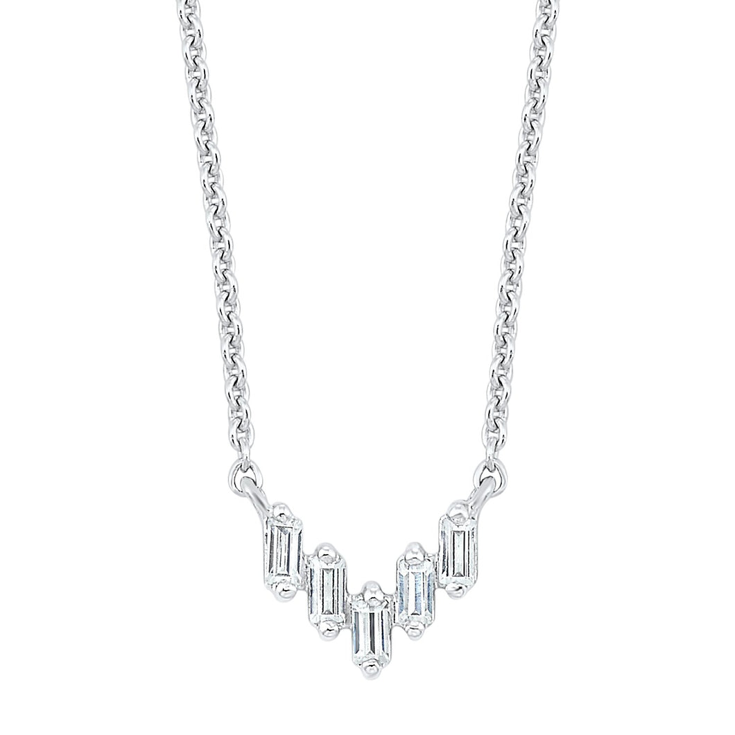 14K Diamond Necklace 1/10 ctw, Danwerke Jewelers, PD30836-4WC