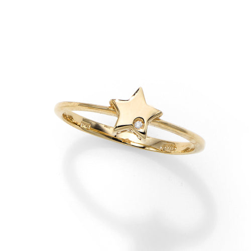 Polished Star Ring  with 0.0050ct 1
