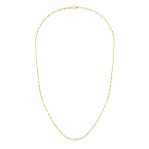 Diamond Cut Mariner Necklace with Lobster Clasp