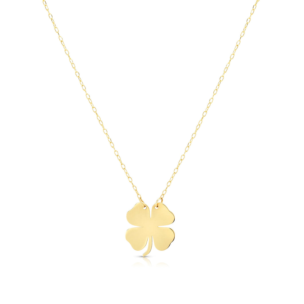 Clover Necklace with Spring Ring Clasp