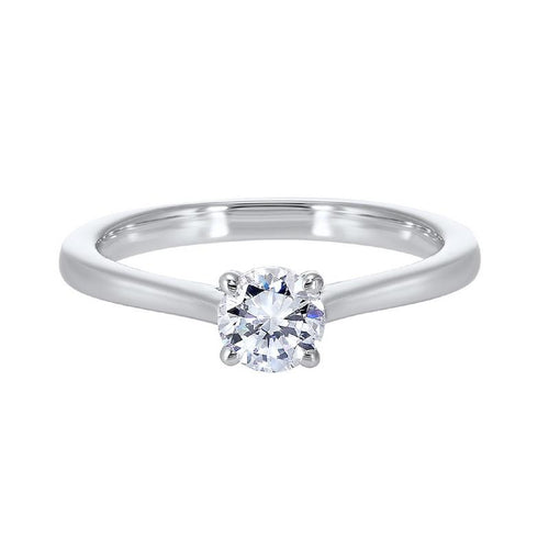 14kw solitaire prong diamond ring 1/4ct, hdcr006-4wd