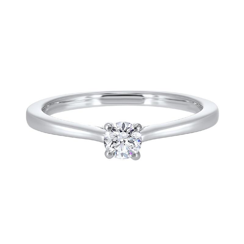 14kw solitaire prong diamond ring 1/2ct, hdcr007-4wd