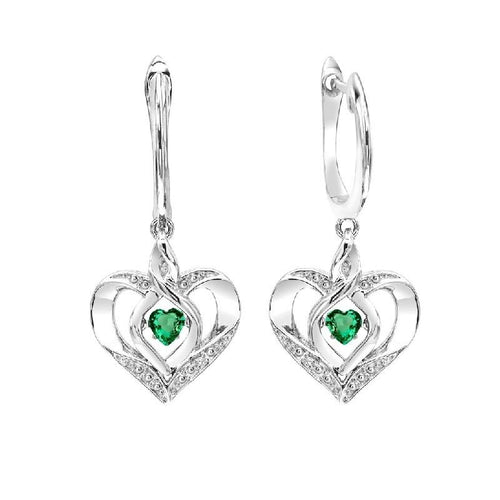 SS Diamond ROL-Birthst Heart Emerald Basics Earring, Danwerke Jewelers, ROL2165E