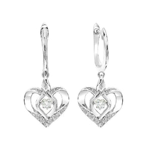 SS Diamond ROL-Birthst Heart Topaz Basics Earring 1/165Ct, Danwerke Jewelers, ROL2165WT