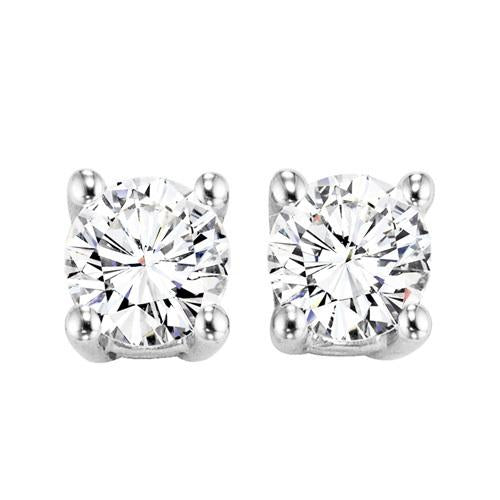 14KTW Diamond Round Basics Stud 1 1/2Ct, Danwerke Jewelers, SE3140-4WF