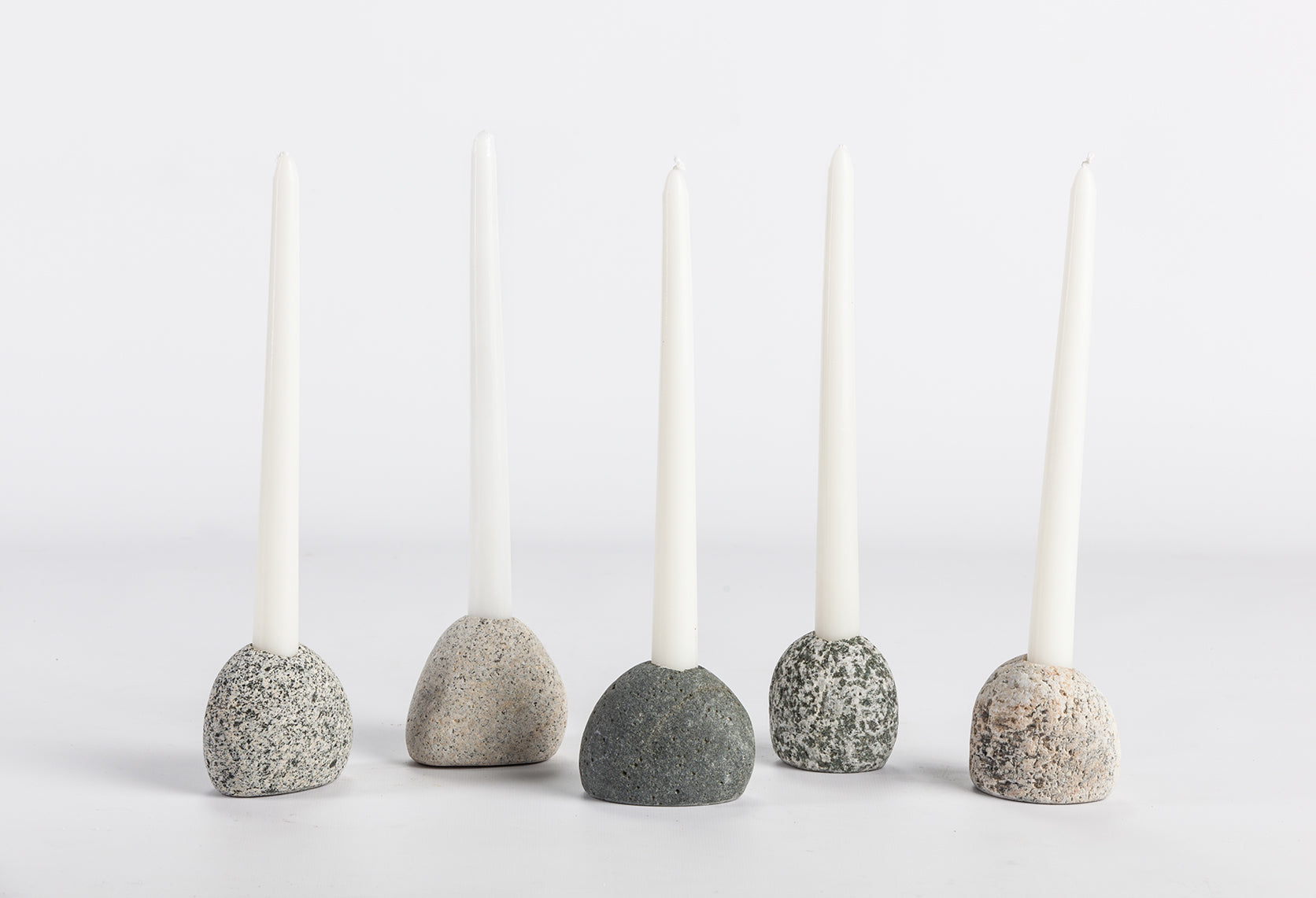 Single Stone Candle Holder