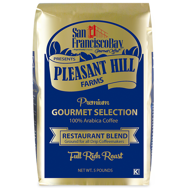 SF Bay Pleasant Hill Farms Restaurant Blend Coffee, 5 lb Bag (GROUND)