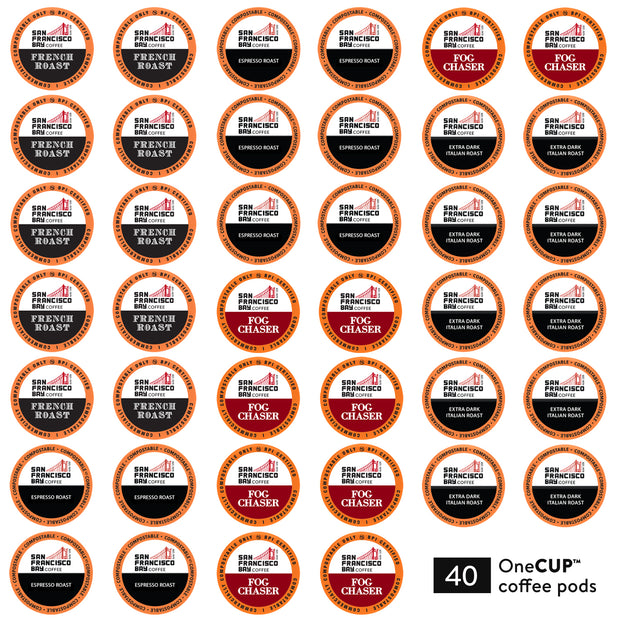 Dark Roast Collection Variety Pack OneCUP™ Pods, 40 Count