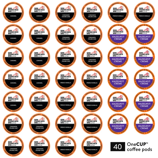Flavored Medley Variety Pack OneCUP™ Pods, 40 Count