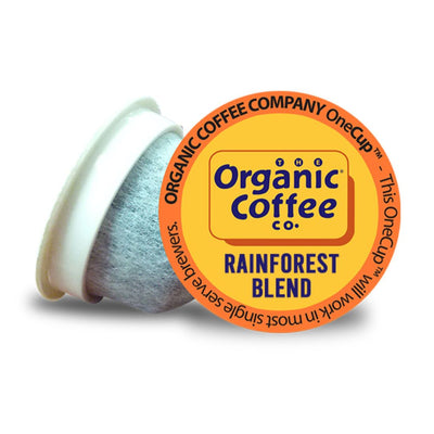Organic Coffee Co. Rainforest Blend OneCups, 30 Count