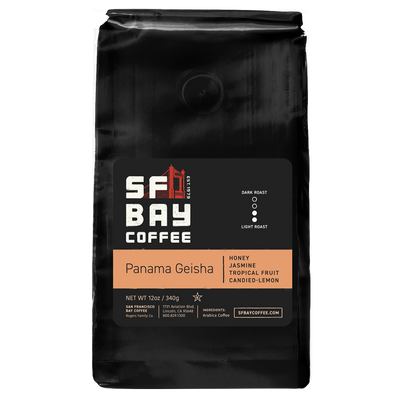 SF Bay Panama Geisha Coffee, Specialty 12 oz Bag