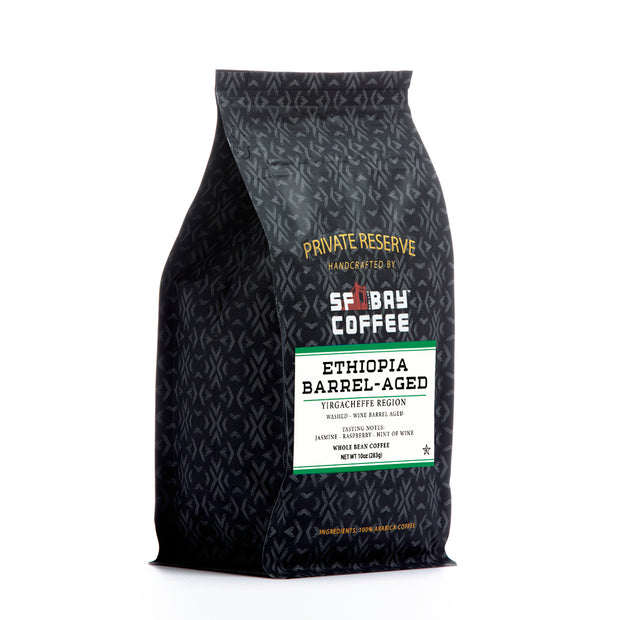 SF Bay Private Reserve Ethiopia Barrel-Aged Coffee, Single Origin, 10 oz Bag