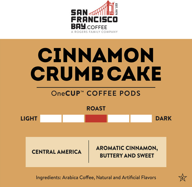Cinnamon Crumb Cake OneCUP™ Pods