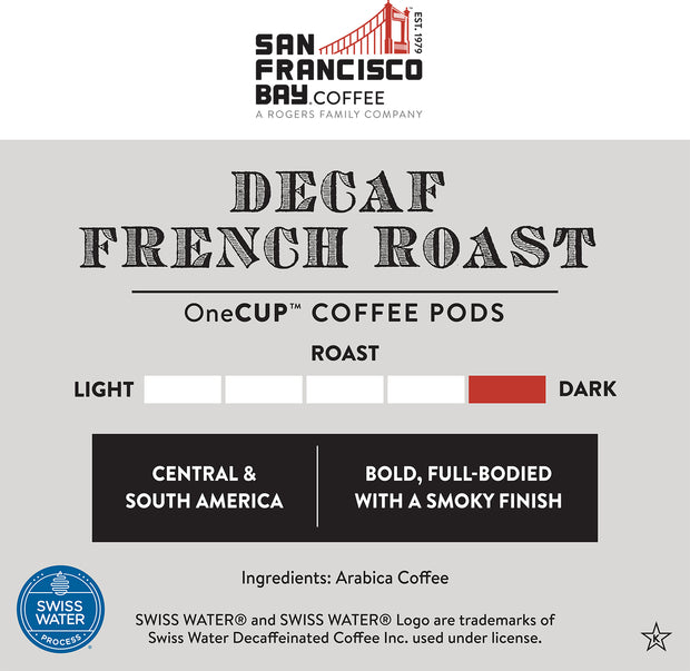 Decaf French Roast Single Wrap OneCUP™ Pods, 50 Count