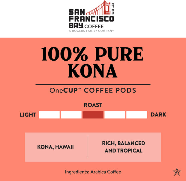 100% Pure Kona Coffee Specialty OneCUP™ Pods, 30 Count