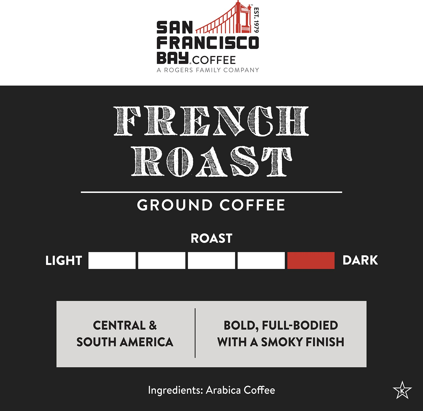 French Roast, Ground, 12 oz Bag