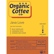 Organic Coffee Co. Java Love Coffee, 2 lb Bag