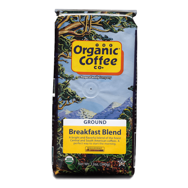 Organic Coffee Co. Breakfast Blend, 12 oz Bag (GROUND)