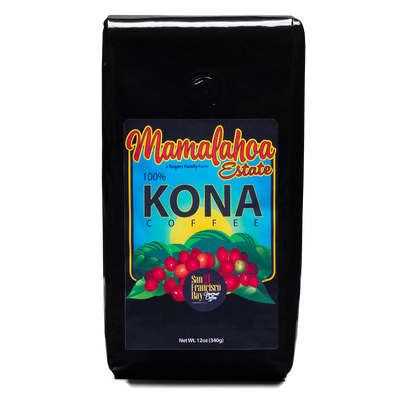 SF Bay Mamalahoa 100% Pure Kona Specialty Coffee, 12 oz Bag