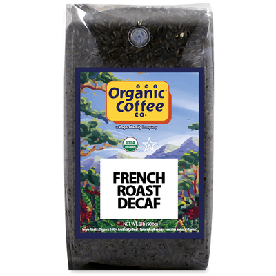 Organic Coffee Co. French Roast Decaf, 2 lb Bag