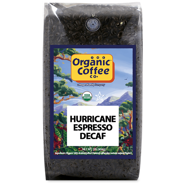 Organic Coffee Co. Hurricane Espresso Decaf Coffee, 2 lb Bag