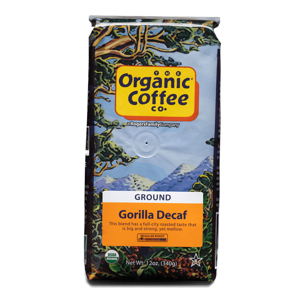 Organic Coffee Co. Gorilla Decaf, 12 oz Bag (GROUND)